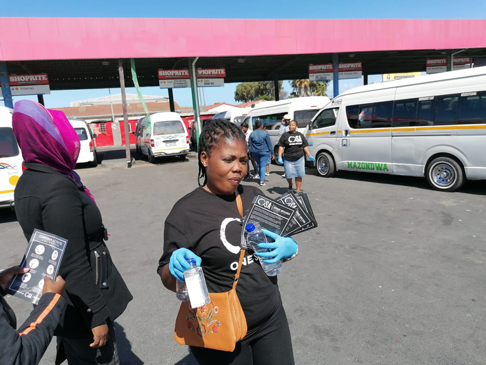 COVID-19 Hand Sanitiser Campaign One South Africa Movement